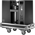 Y10P loudspeaker front in touring case