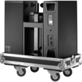 Y7P loudspeaker on touring case