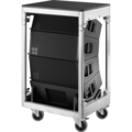 Line-array d'enceintes Y8 sur Fly Case (avant)