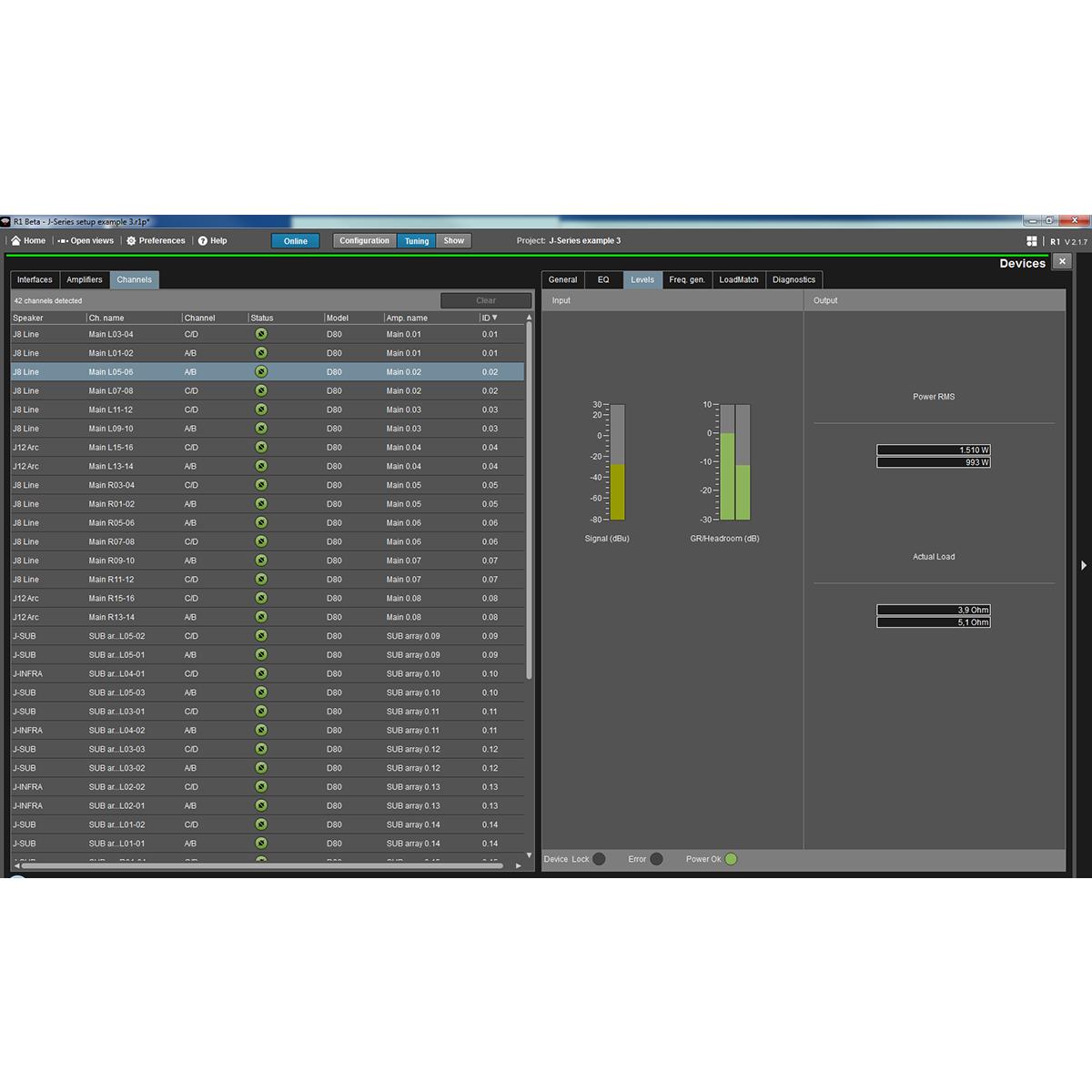 R1 Remote control software | d&b audiotechnik