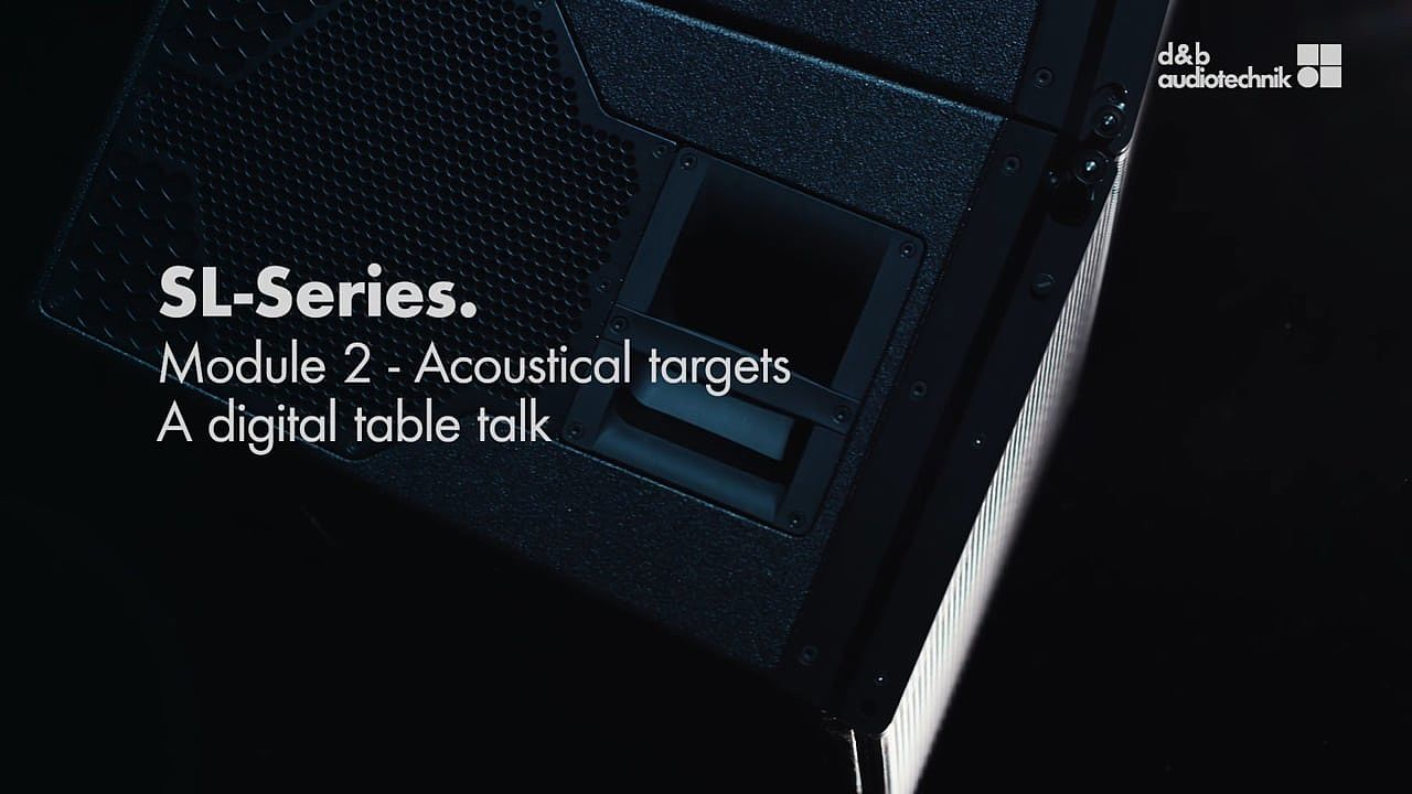 SL-Series. Acoustical targets. A digital table talk.