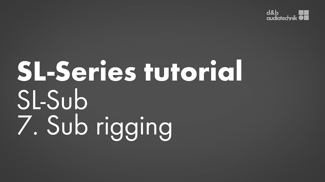 SL-Series tutorial. SL-Sub. 7. Sub-rigging.