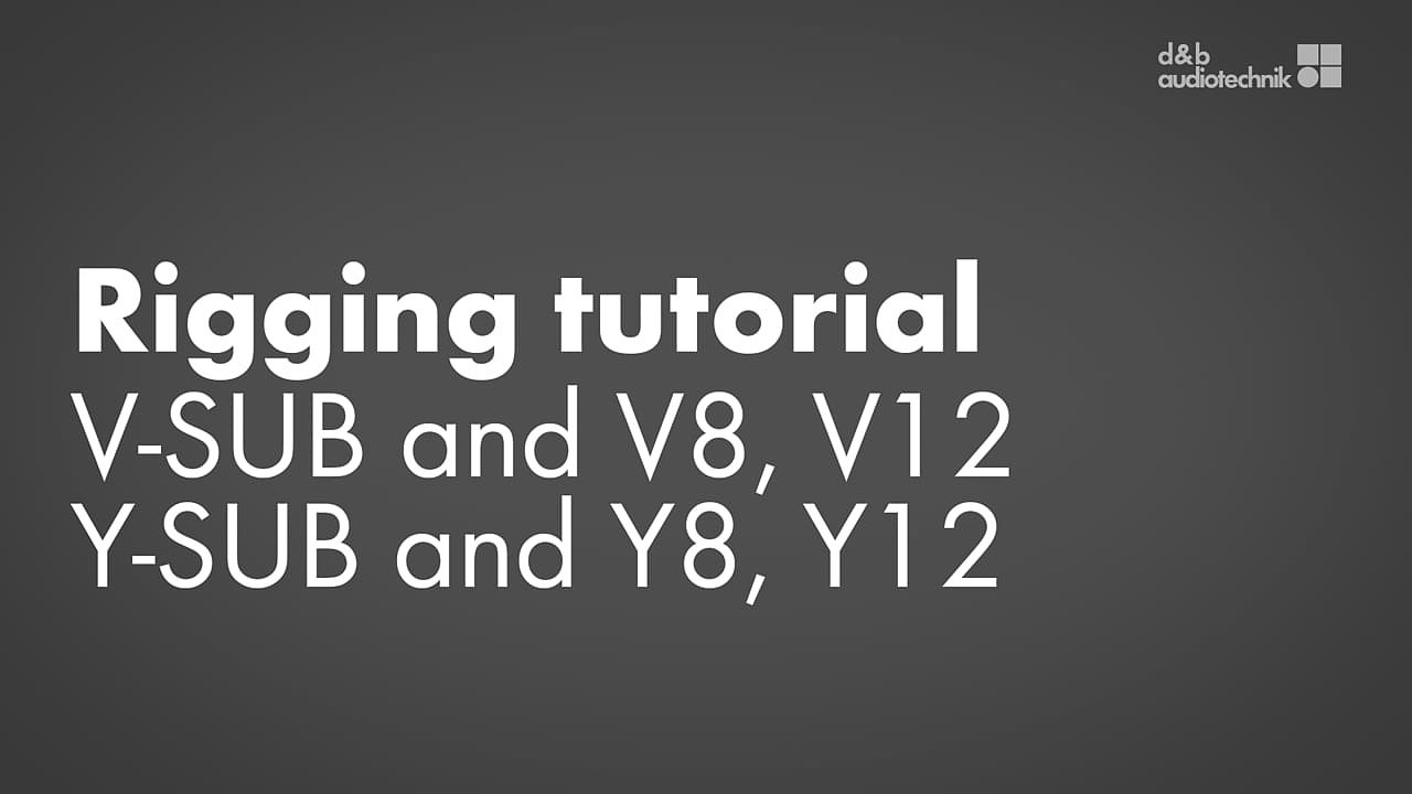 Rigging V-SUB and V8, V12 or Y-SUB and Y8, Y12