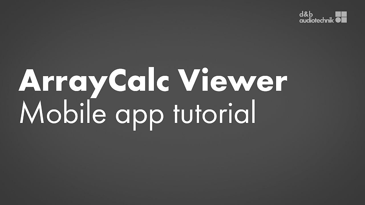 ArrayCalc Viewer tutorial. Mobile app for Android and iOS