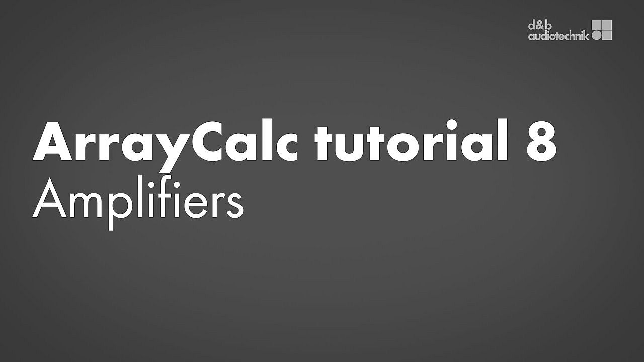 ArrayCalc tutorial. 8. Amplifiers: Remote