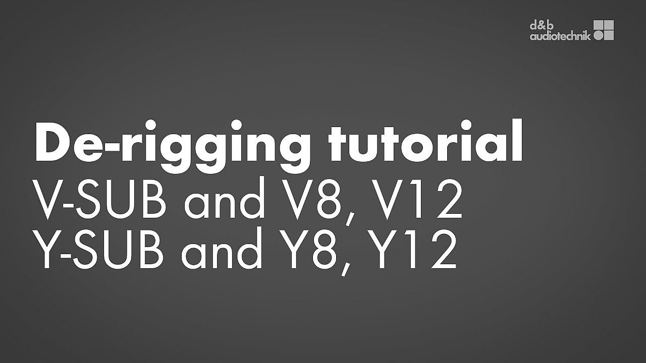 De-rigging tutorial. V-SUB and V8, V12 or Y-SUB and Y8, Y12