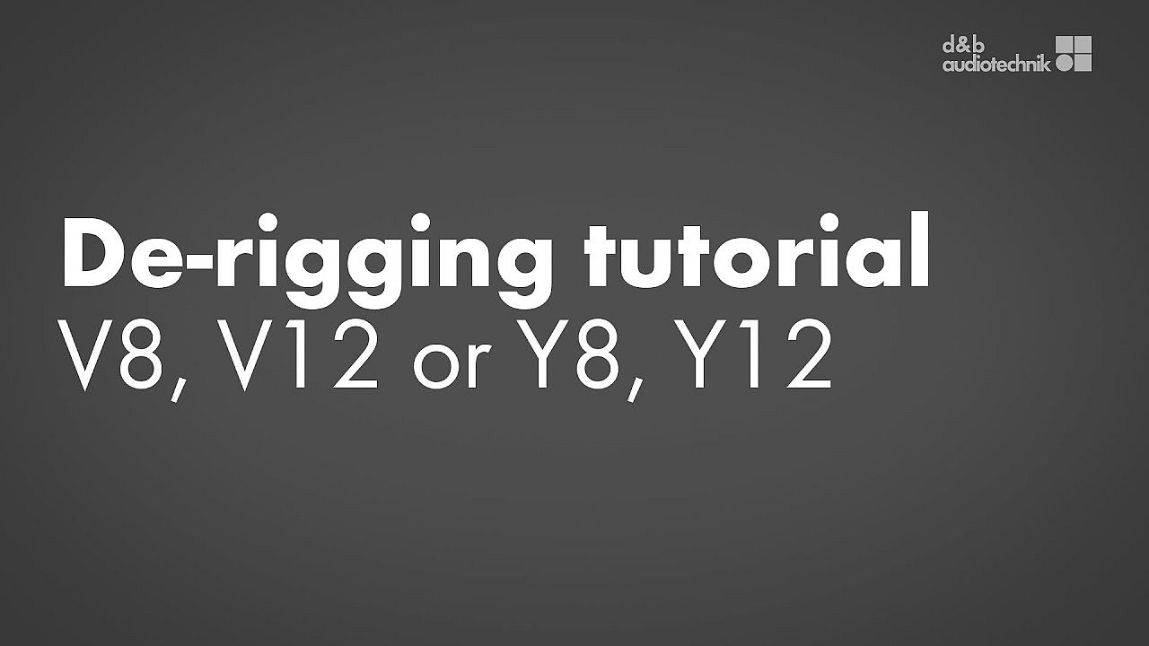 De-rigging tutorial. V8, V12 or Y8, Y12