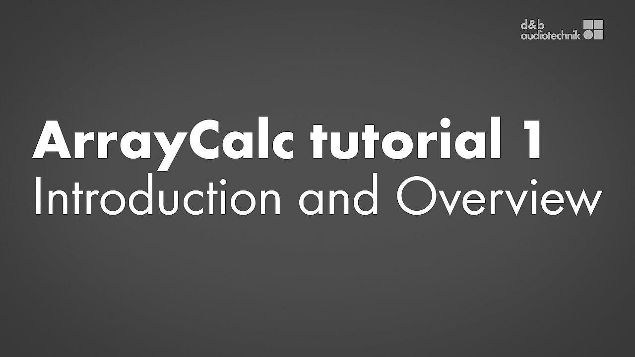 ArrayCalc tutorial. 1. Introduction and Overview