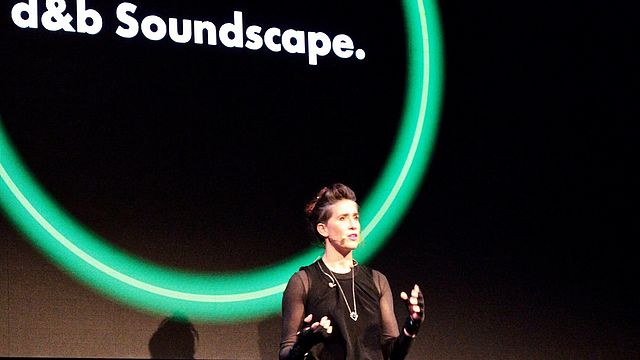Imogen Heap delivers a spine tingling demonstration of the d&b Soundscape to a capacity Prolight + Sound 2019 audience