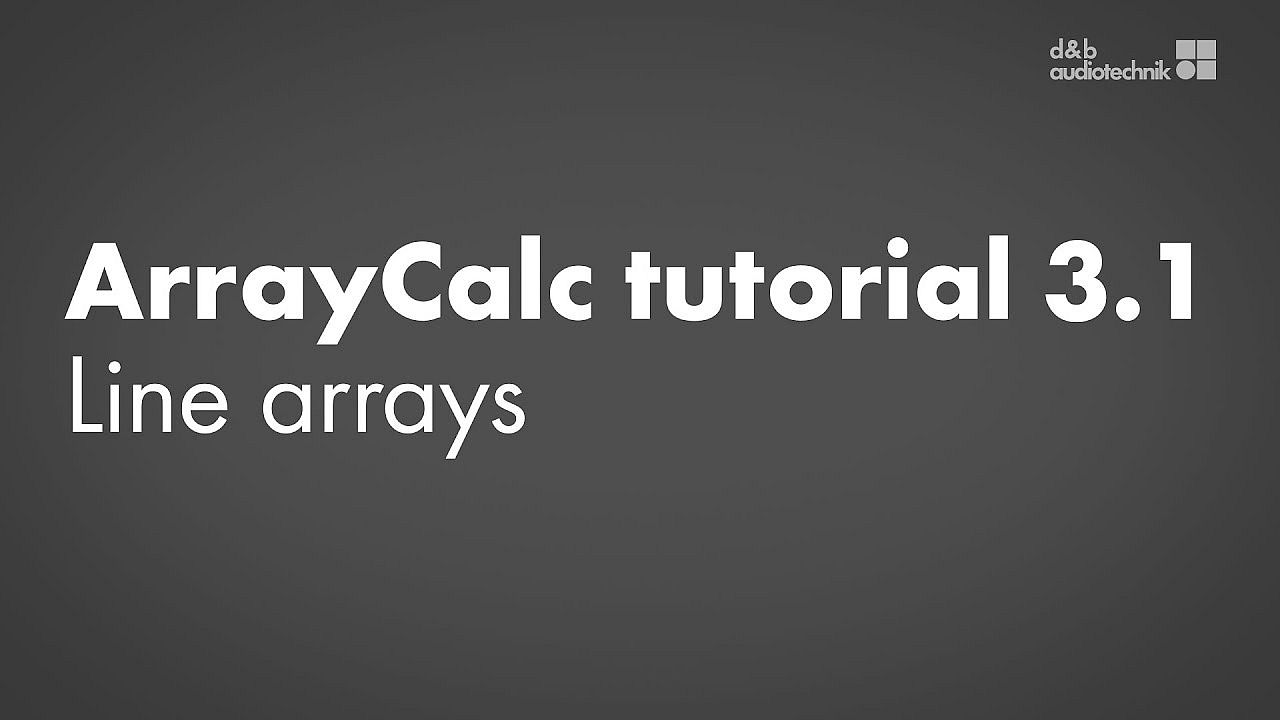 ArrayCalc tutorial. 3.1. Sources view: Line arrays