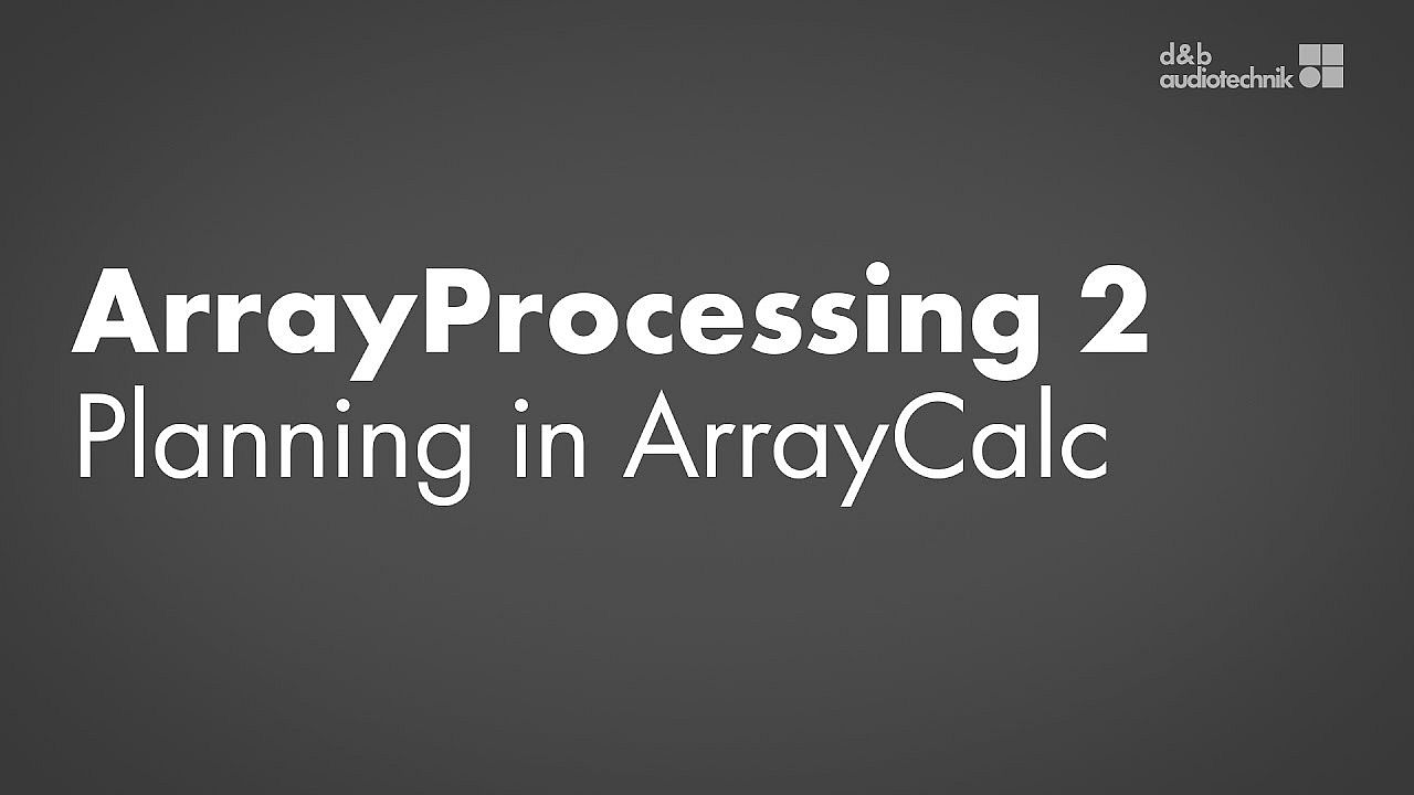 ArrayProcessing tutorial. 2. Planning in ArrayCalc