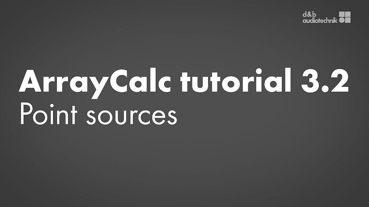 ArrayCalc tutorial. 3.2. Sources view: Point sources
