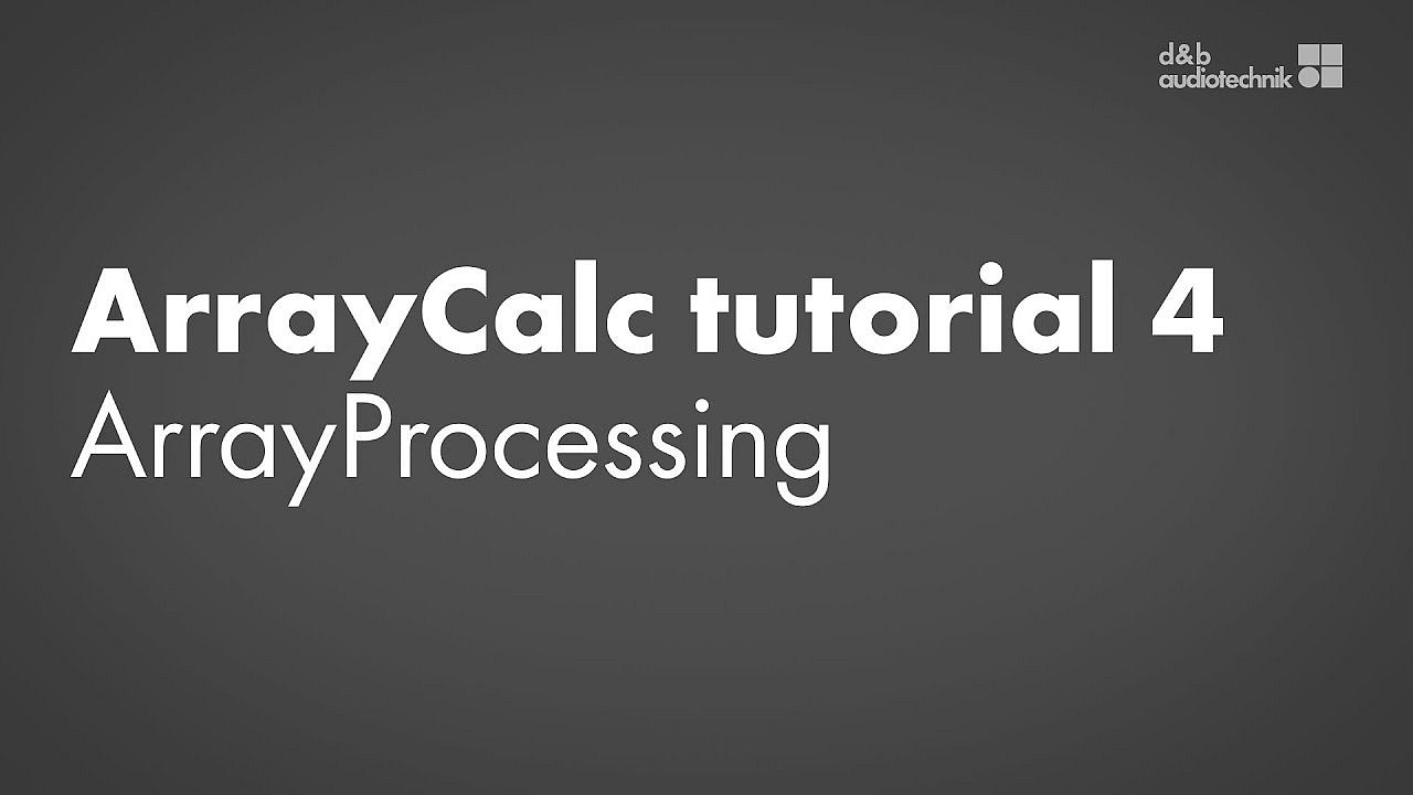 ArrayCalc tutorial. 4. ArrayProcessing simulation