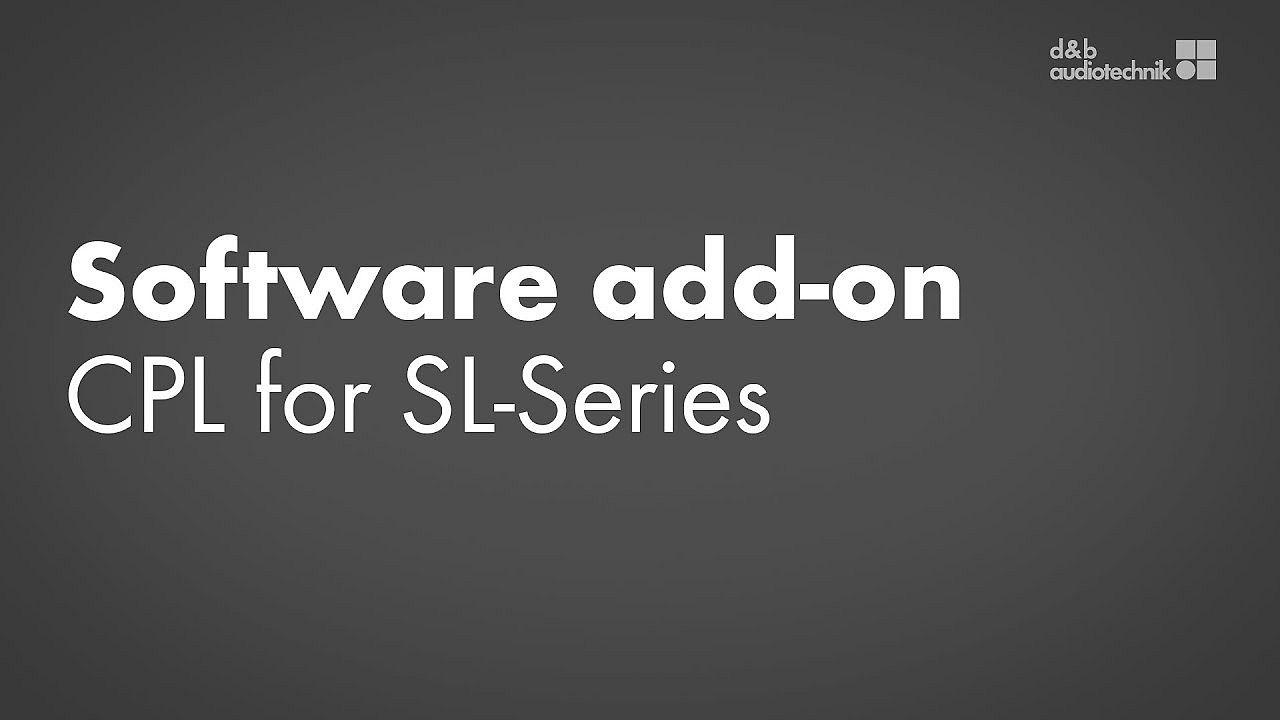 Software add-on. CPL for SL-Series