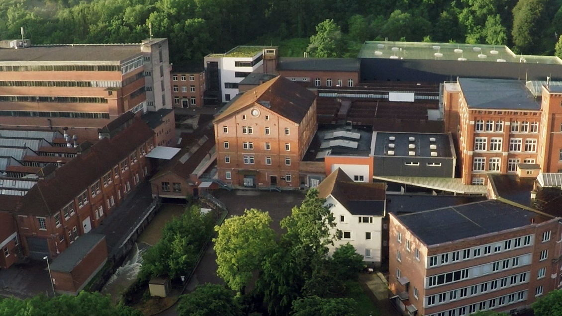 d&b headquarter in Backnang aerial view
