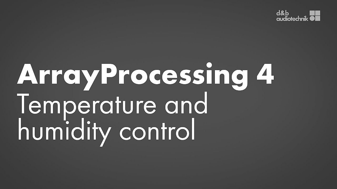 ArrayProcessing tutorial. 4. Temperature and humidity control