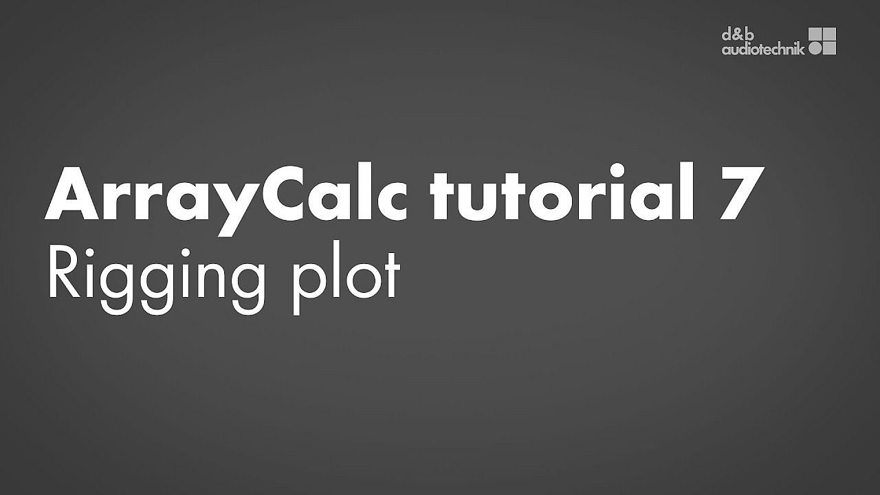ArrayCalc tutorial. 7. Rigging Plot