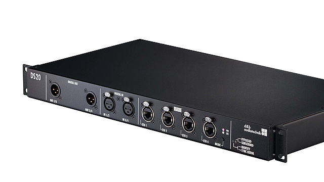 d&b audiotechnik launches its first milan product the ds20 audio network bridge